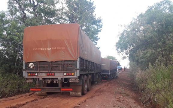 Secuestran camiones con carga de soja por evadir los controles de Rentas