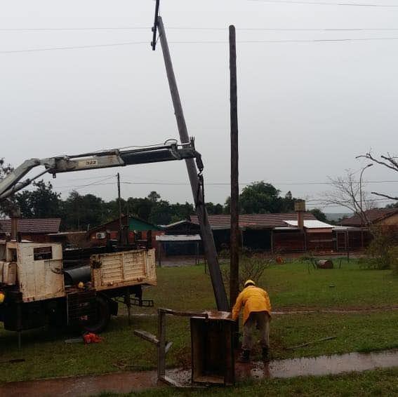 La tormenta dañó casas y provocó cortes de luz en Posadas