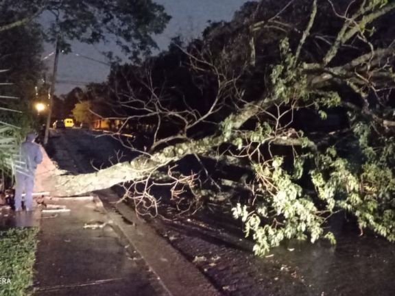 La tormenta también dejó daños en varias localidades de Misiones