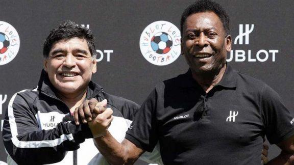 """El emocionante mensaje de Pelé a Diego: """"Te amo"""""""