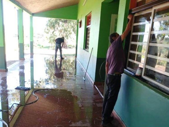 Realizan reparaciones integrales en la Escuela 507 de Bernardo de Irigoyen