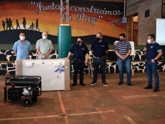 San Pedro: entregan equipamiento para la sala fría del vacunatorio Covid-19