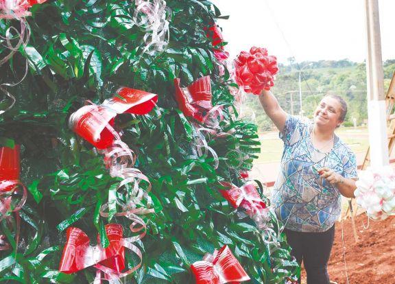 Reciclar con espíritu navideño