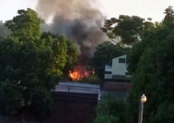 Incendio consumió por completo una vivienda en Jardín América