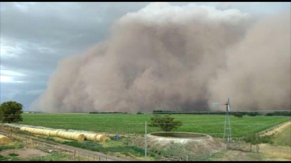 Una fuerte tormenta azotó a La Pampa