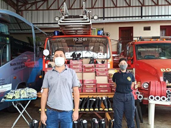 Bomberos de Iguazú renovaron parte de su equipamiento con lo recaudado el año pasado