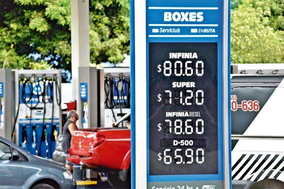 La nafta súper subió a $71,20
