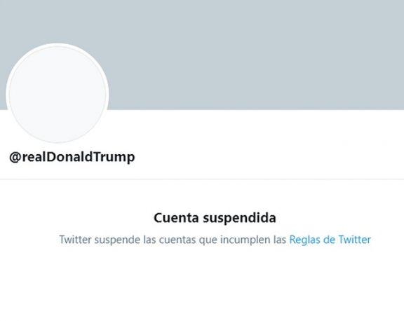 Twitter suspendió la cuenta de Donald Trump de forma permanente