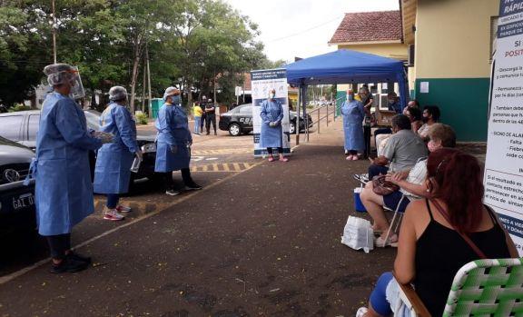 Más de 650 testeos rápidos se realizaron en el ex materno neonatal