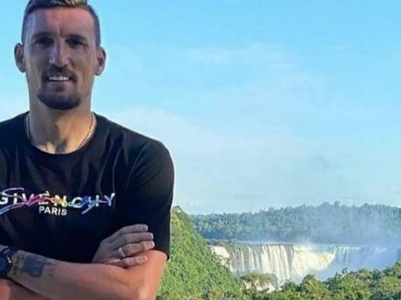 Franco Armani visitó las Cataratas del Iguazú en su primer fin de semana de vacaciones