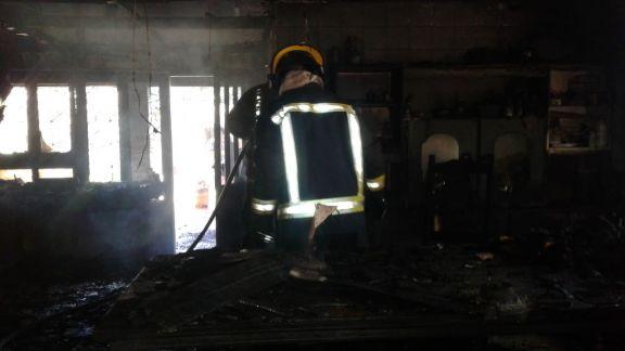 Se incendió una vivienda en Jardín América