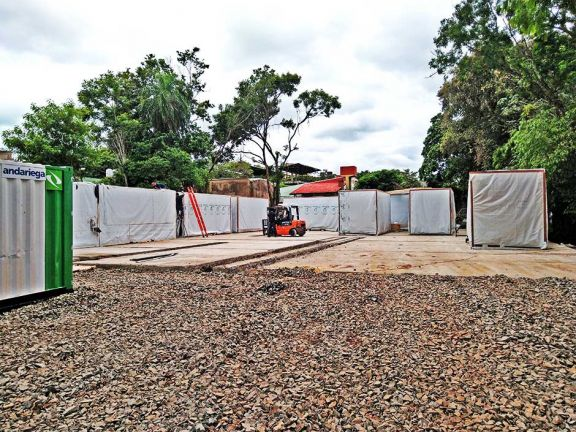 El hospital modular de  Iguazú, listo para febrero