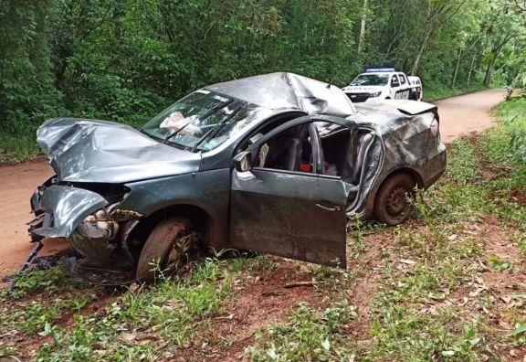 Iguazú: fallecieron dos personas tras el despiste de un automóvil en las 600 Hectáreas