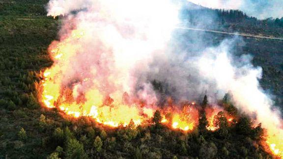 El fuego arrasó con 10 mil hectáreas en El Bolsón y avanza hacia Chubut