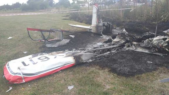 Dos muertos tras la caída de avioneta en General Rodríguez