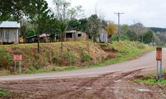 Interrumpida la comunicación terrestre entre A. del Valle, Jardín América y Ruiz de Montoya