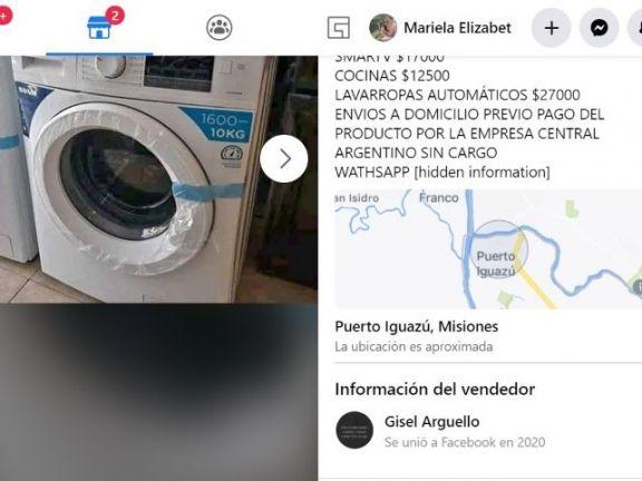 La oferta como primer eslabón del engaño, a través de la red social. Foto: Captura de Pantalla.