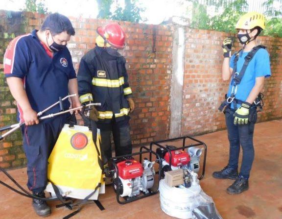 Bomberos Voluntarios de Puerto Libertad recibió nuevo equipamiento