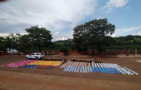 Prefectura incautó zapatillas de contrabando en El Soberbio