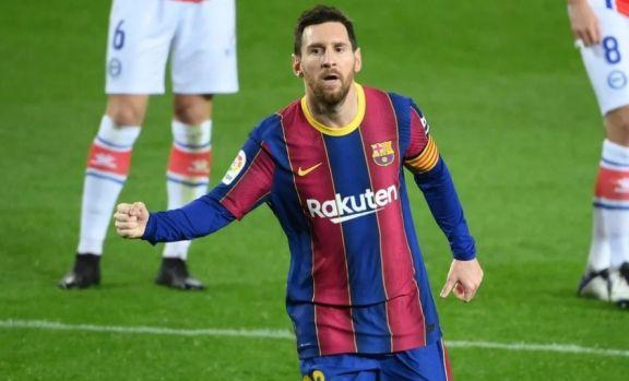Messi convirtió dos golazos y Barcelona goleó al Alavés