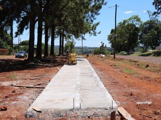 Oberá: En marcha la construcción de bicisendas sobre la avenida Picada Vieja