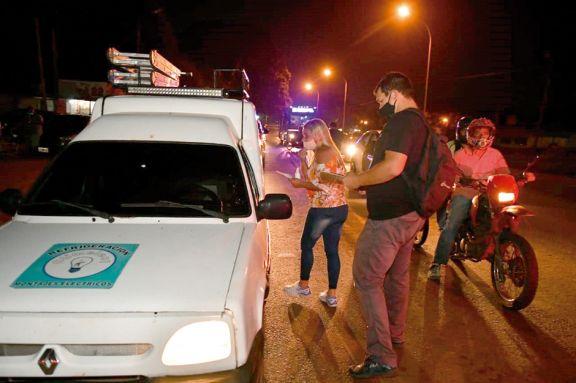 Vecinos profundizaron protesta contra las fotomultas