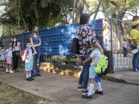 Con la emoción a flor de piel, niños del NENI 1 participaron del simulacro del regreso a clases