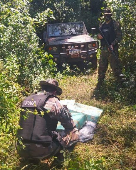 Prefectura secuestró 187 kilos de marihuana en Corpus y Puerto Libertad