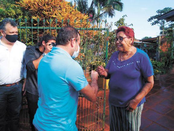 Supervisó obras en Iguazú