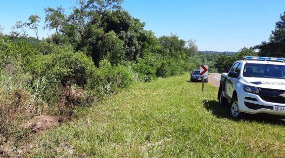 Cerro Azul: murió un automovilista tras despistar en ruta 14