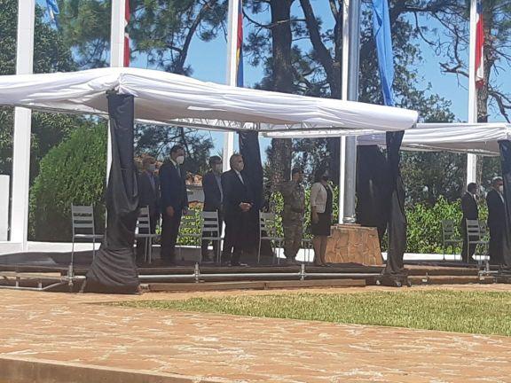 El presidente encabezó el acto por el aniversario del nacimiento de San Martín, en Yapeyú