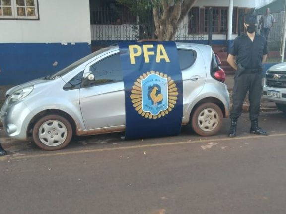 En Iguazú secuestraron un vehículo que había sido robado en Paraguay