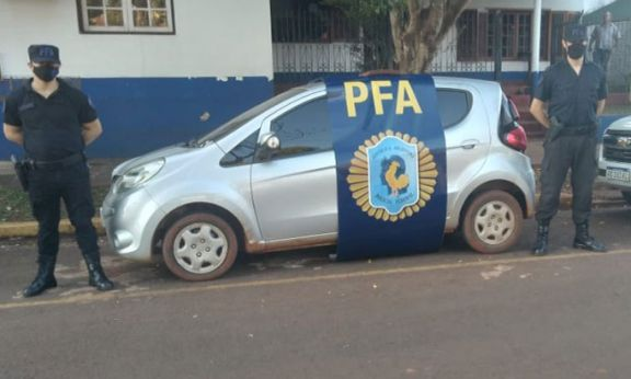 Incautaron un auto con pedido de secuestro desde Paraguay