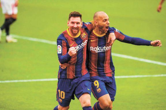 Messi selló la victoria del Barsa, que se suma a la pelea