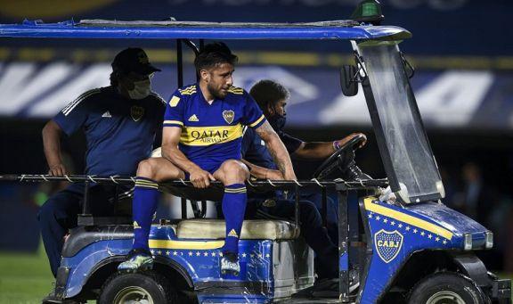 Salvio se rompió el ligamento cruzado de una rodilla y será baja en Boca al menos seis meses