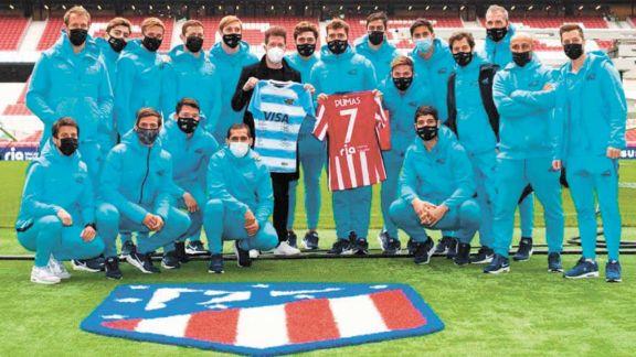 El Cholo Simeone fue anfitrión de Los Pumas '7 en España