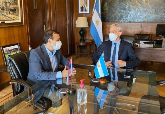 Oscar Herrera Ahuad fue recibido por el ministro de Transporte de Nación Mario Meoni