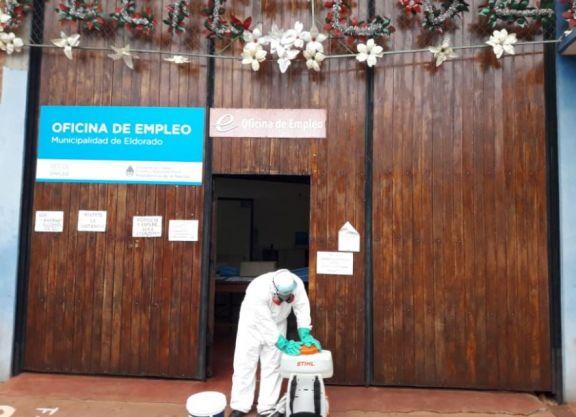 Cierran la Oficina de Empleo de la Municipalidad de Eldorado por cinco casos positivos