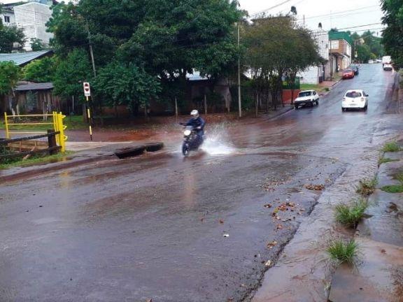 Lluvia intensa en algunas localidades de la zona Centro
