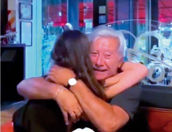 La emoción de Mateyko tras poder ver a su hija otra vez