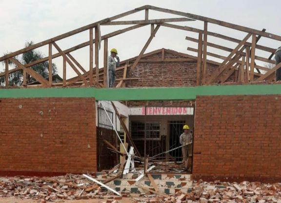 San Pedro: escuela celebra culminación de obra en el  edificio