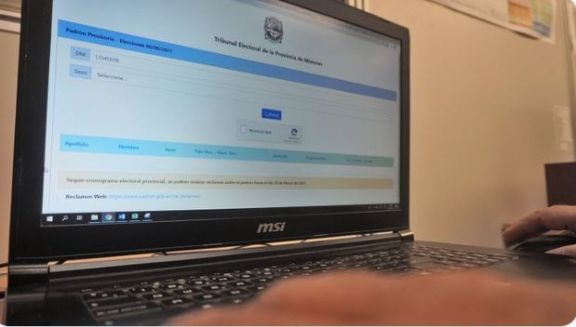 Ya se encuentra disponible el Padrón Provisorio para las elecciones del 6 de junio
