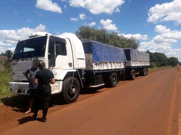 Detienen otro camión cargado de soja que evadió el control de la ATM