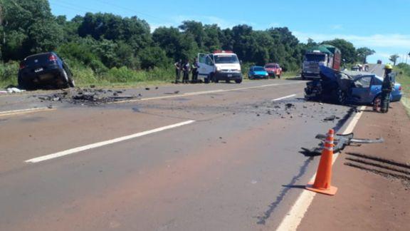 Dos fallecidos a causa de una colisión frontal sobre ruta 12