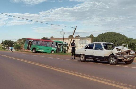 Triple colisión dejó varios heridos en Oberá