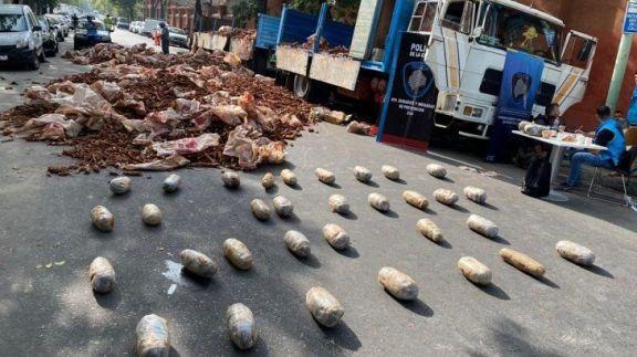 Interceptaron camión que salió de Misiones con droga oculta en bolsas de mandioca