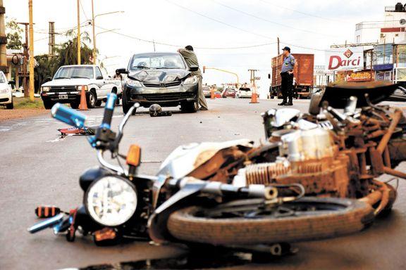 Motos, las más involucradas en accidentes de tránsito