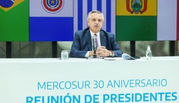 """A 30 años de la creación del Mercosur, Fernández llamó a sus pares a """"profundizar la integración"""""""