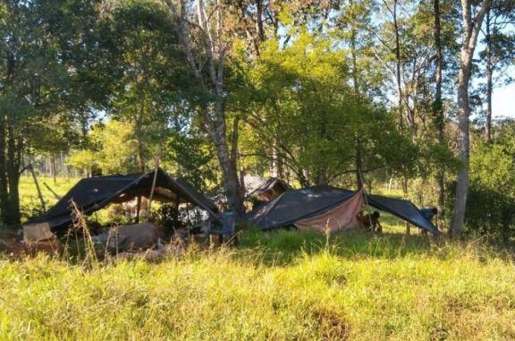 Operativos de fiscalización: detectan campamento en Santa Rita