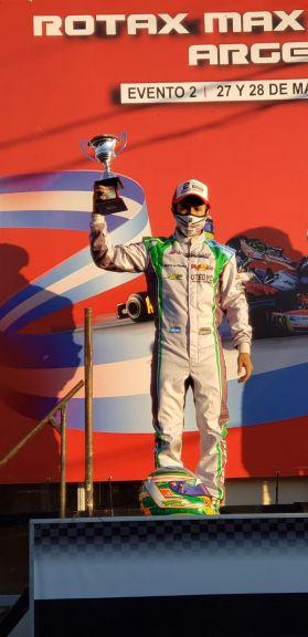 Grimaldi fue segundo en la segunda fecha de la Rotax Bue